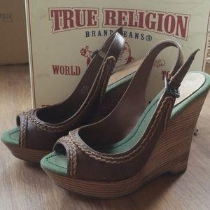 TRUE RELIGION Wedges ~ High Heels ~ New